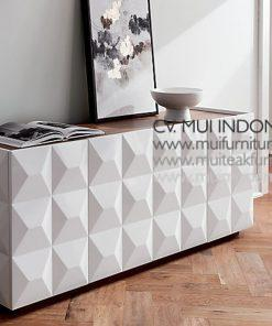 Diamond Tv Media Credenza, 180W x 50D x 72H cm