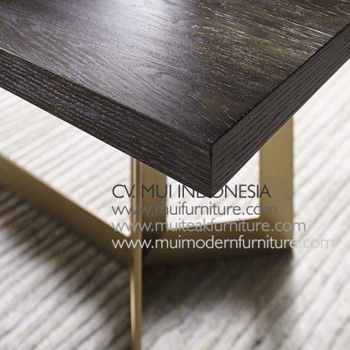 Leg Casement Brass Rectangular Table