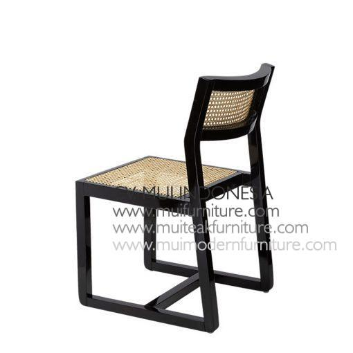 Mino Black Chair Rattan