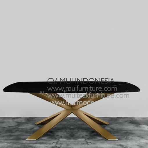Saling Silang Rectangular table Marble