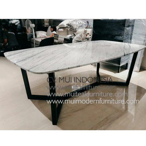 Spider Leg Rectangular Table Marble