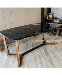 Spider Leg Rectangular Table Marble, 180W x 90D x 75H cm