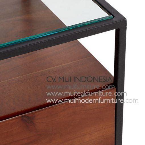 Top Glass Slim Frame Sidetable