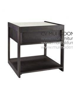 Top Marble SIde Table, 50W x 50D x 52H cm