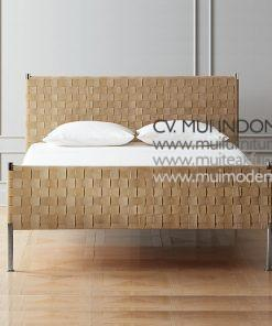 Woven Suede stainless Bed Queen