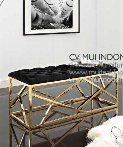 Ankara stainless Bench , 120W x 50D x 45H cm