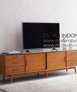 Long Media Console Mid Century, 240W x 48D x 66H cm