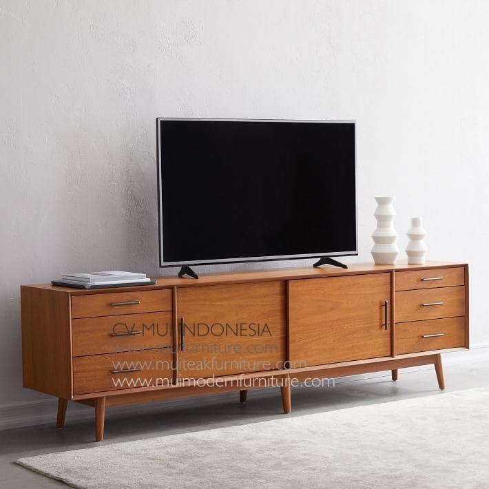 promo code 0d02e 018e3 Long Media Console Mid Century - Modern Furniture