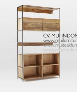 Modular Bookcase Slim, 120W x 45D x 200H cm