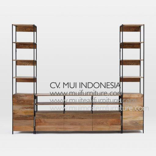 Modular Recycle Media Console, 2500W x 48D x 200H cm