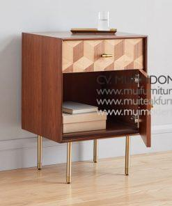 Modernist Wood lacquer Nightstand